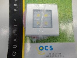 Opbouwspot square 50 wit 4SMD, LED