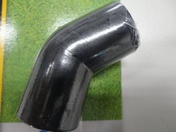 Hoekstuk 45 graden PE 32mm zwart Reich