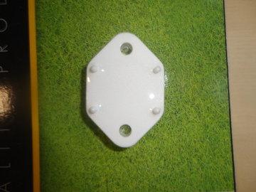 Onderlegplaat wit voor deurvanger.