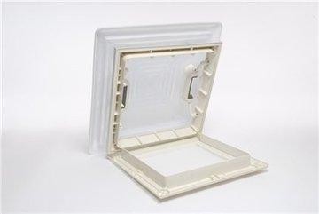 Dakluik met witte kap 40 x 40 , beige onder frame