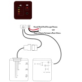 BBa schoon en vuilwatertankmeter LED display compleet_
