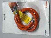 gasslang m/wartel 1/4Lx8 100cm