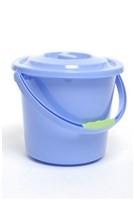Toiletemmer met deksel blauw 8L