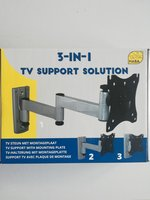 Tv steun 2 armen wandmontage en vergrendeling