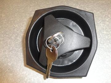caravan deurslot zwart Rond, rechts draaiend gat 93 mm