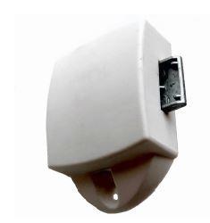 Drukknopslot eenzijdig bedienbaar, kleur wit
