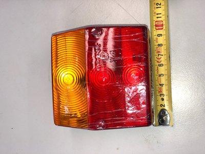 achterlicht klein 9x9 oranje+rood+kentekenverlichting