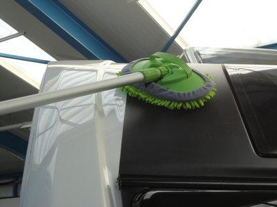 Travellife Telescopische wasborstel microvezel groen