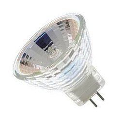 Halogeenlamp 12V-10W m/glas 50mm rond