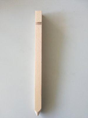 Houten haring met geslepen punt 34 cm lang per stuk