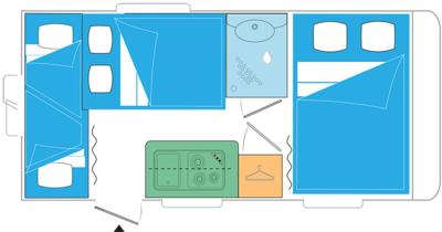 Caravelair Alba Family 426 met stapelbed model 2020