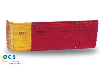Jokon achterlicht horizontale montage 4 vaks uitvoering. afm 385x 130 mm.