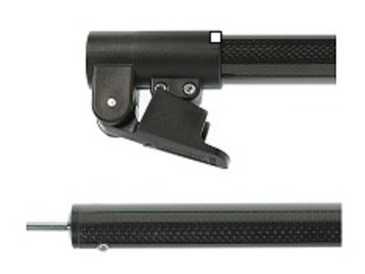 Campking Carbon/Glasfiber Daksteun gebogen 28/25mm 225-238 cm.