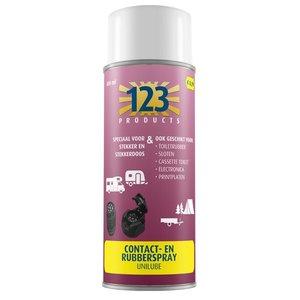 123 Contact- en Rubberspray 400ml.