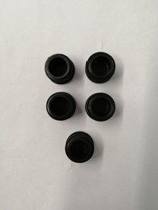 Einddop zwart 22mm  5 stuks.