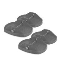 Travellife Jumbo voet staal set van 4 stuks